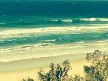 Sunshine Beach in front of surf club sand is there