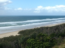 Sunrise Beach lines down the coast coming into low tide at 12.15 pm today.
